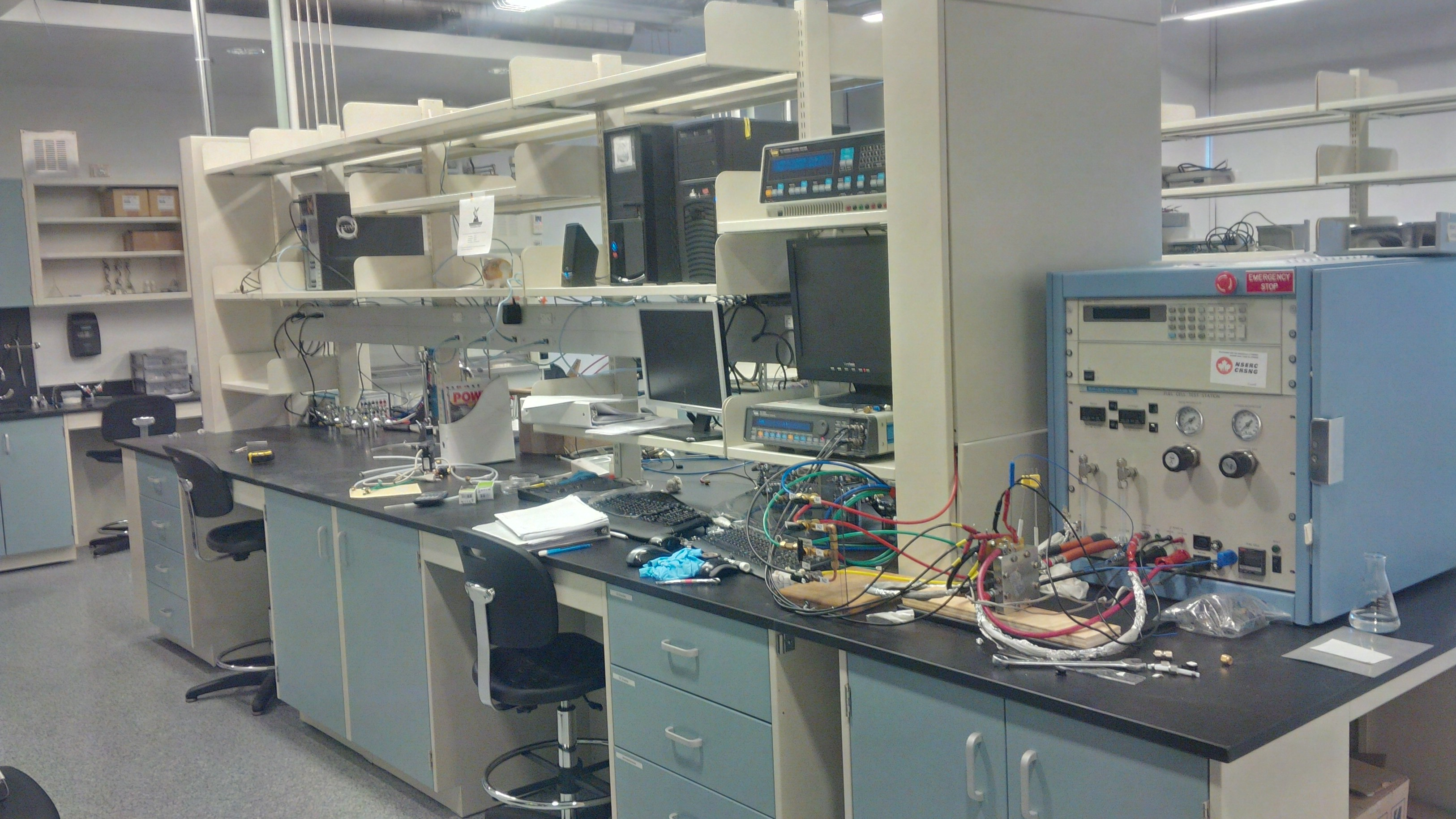 Our fuel cell testing station